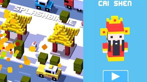 Unlock CAI SHEN Secret Character - Crossy Road iOS App Chinese New Year