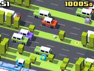 Crossy road swamp frog game play