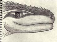 Lizard man of scape ore swamp face agressive by straightupraver-d4hivm2