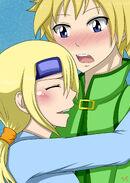 Koohii hugs harris request by sabzac