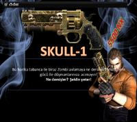 Skull1 turkey poster