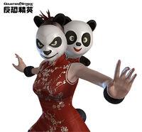 Panda costume poster kr