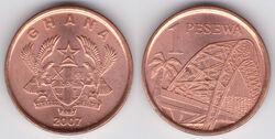 Ghana 1 pesewa 2007