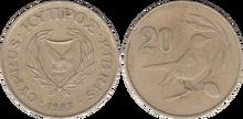 Cyprus 20 cents 1983