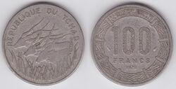 Chad 100 francs 1978