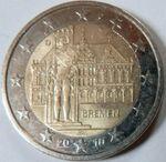 2 Euro Gedenkmünze Deutschland Bremen (cropped)