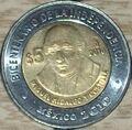 Miguel Hidalgo y Costilla 5 peso coin 2010.jpg