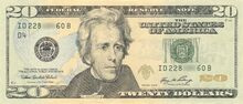 US $20 Series 2006 Obverse