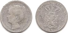 Curacao 1-10 gulden 1901