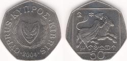 Cyprus 50 cents 2004