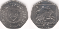 Cypriot 50 cent coin