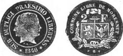 Moresnet coin Revue