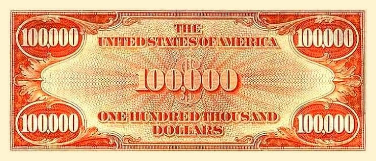 United States 100 000 Dollar Banknote Currency Wiki