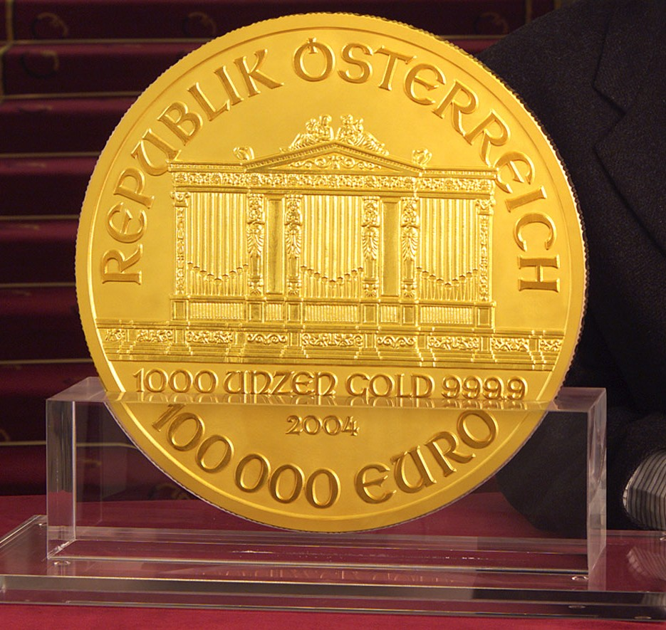 Austrian 100,000 euro coin - Currency Wiki, the online numismatic ...