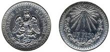 Un Peso Mexico 1919