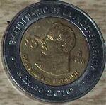 Carlos Maria de Bustamante 5 peso coin 2008