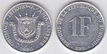 Burundi 1 franc 1993PM