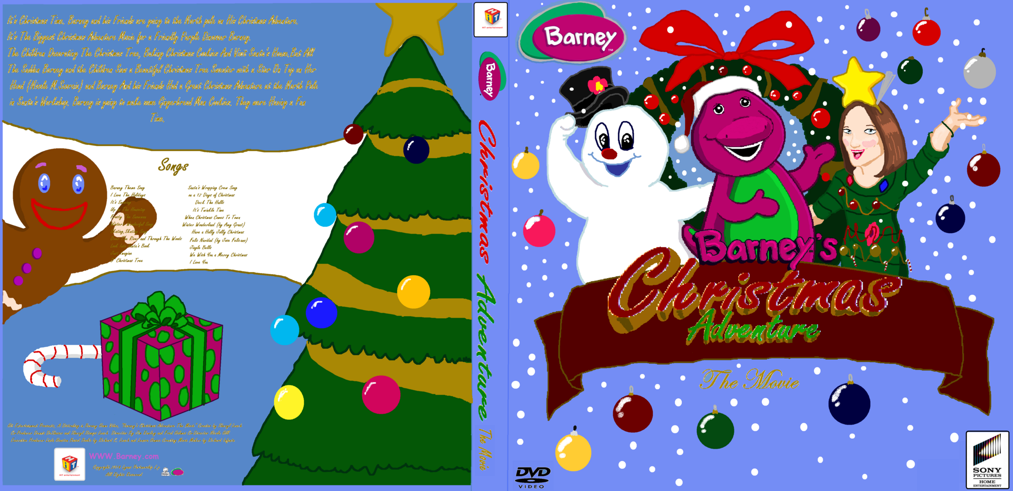 barney u0027s christmas adventure the movie custom barney wiki
