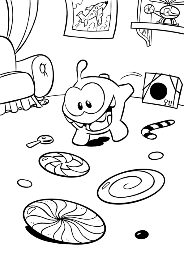 Cut the rope coloring pages ~ Image - ColoringPage5.jpg | Cut the Rope Wiki | Fandom ...