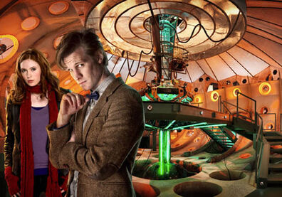 The Doctor and Amy in the Tardis