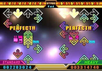 Ddr vivid gameplay example