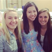 Taylor at SarahP HS graduation party