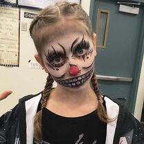706 Elliana in Clown Makeup for Group