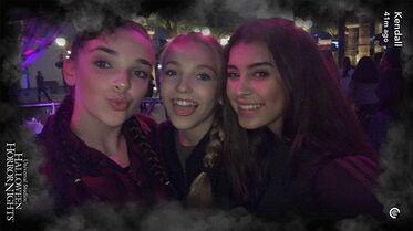706 Brynn Kalani and Kendall at US Halloween Horror Nights