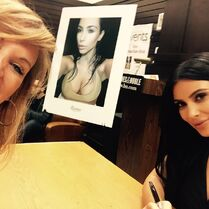 Jill at Kim Kardashian book signing - 2015-05-07