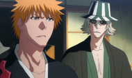 Urahara warns Ichigo about his powers