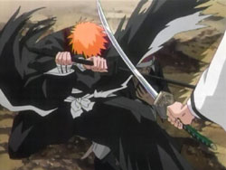 File:Ichigo Stops Aizen's attack.jpg