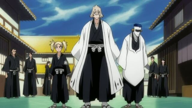 File:Squad 12, Urahara, Hiyori, and Mayuri.jpg