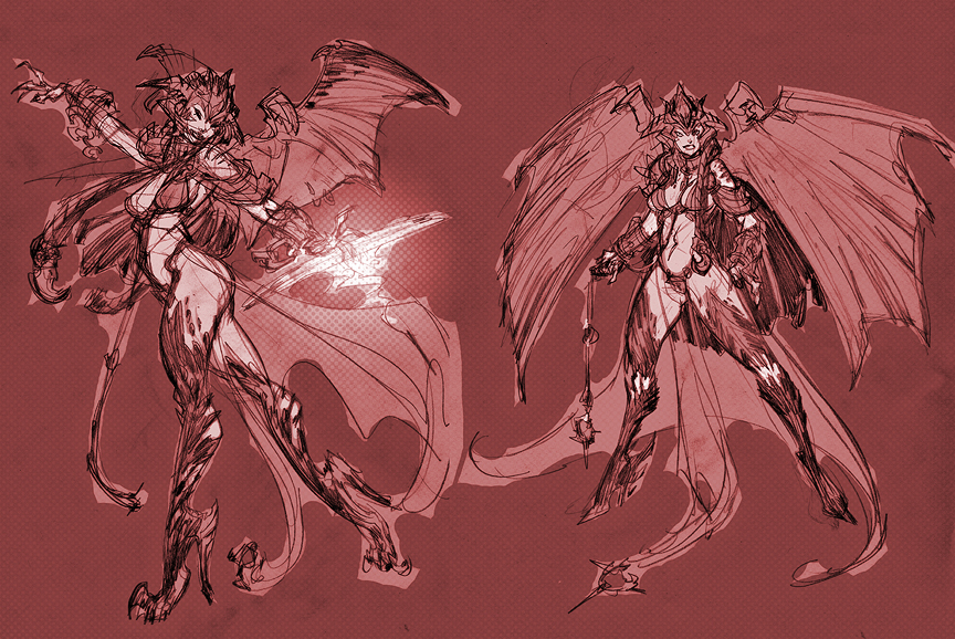 Darksiders 2 Lilith and Death by BloomInAdversity on DeviantArt