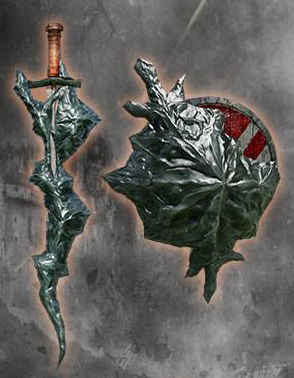 File:Black Flamestone Dagger and Shield.jpg