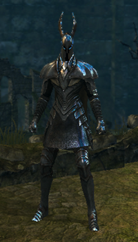 Silver knight set male