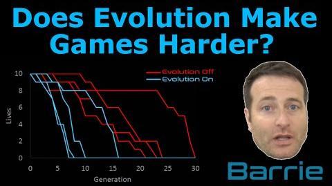 Does evolution make a game harder?