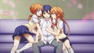 Yamai sisters seducing Shido