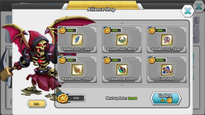 Alliance shop
