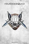 Suicide Squad tattoo poster - Captain Boomerang
