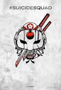 Suicide Squad tattoo poster - Katana