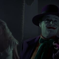 Vicki and the Joker in the church.