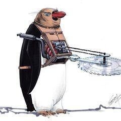 Concept art for Cobblepot's armed penguins.