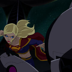 Supergirl in combat.