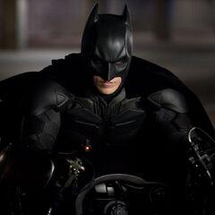 Batman on the Batpod.