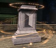 Empty pedestal