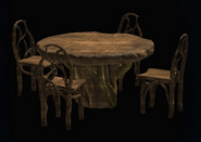 Gnarled Dining Table and Chairs