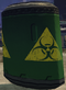 Green toxic barrel