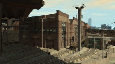 Der Betriebshof oder das Bahndepot