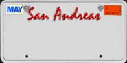 Autokennzeichen San Andreas Mai