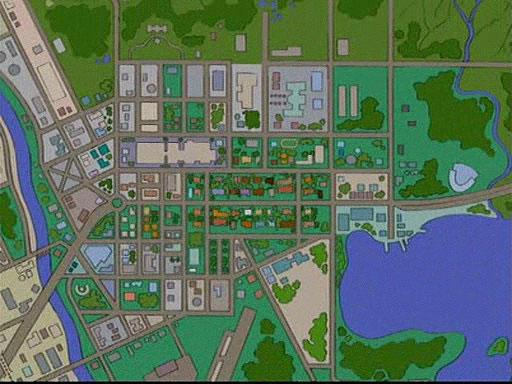 Bild  Stadtplan Von Springfield HABF09 Jpg  Simpsons
